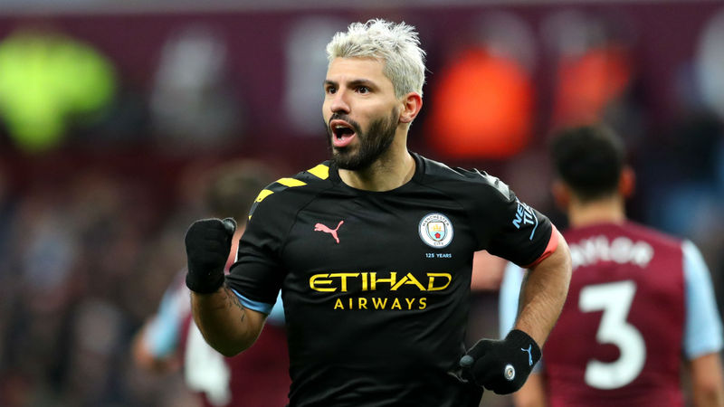 Aguero targets Champions League glory after breaking Premier League records