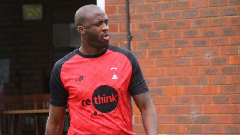 Former Man City and Barcelona star Yaya Toure trains with Leyton Orient