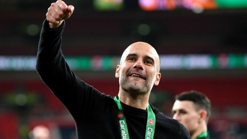 'Three in a row is incredible' – Man City boss Guardiola savours another EFL Cup success