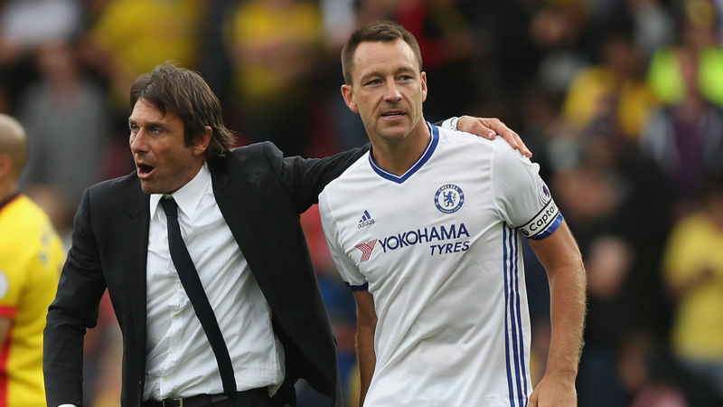 We are talking about a top man - Terry's influence was crucial to Chelsea success, says Conte