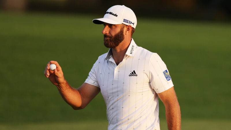 The Masters: Flawless Dustin Johnson equals 54-hole record to close on Augusta glory