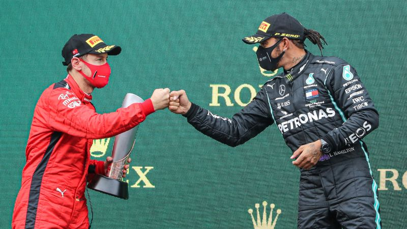 Vettel happy to bear witness to Hamilton's seventh world title