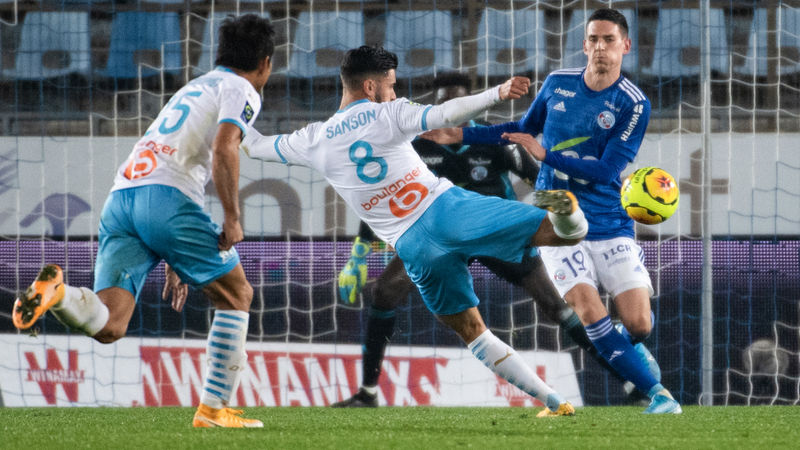Marseille record 14-year first in Ligue 1 after seeing off struggling Strasbourg