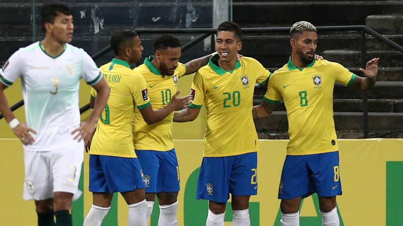 Brazil 5-0 Bolivia: Firmino scores brace as Selecao rout visitors in qualifying opener