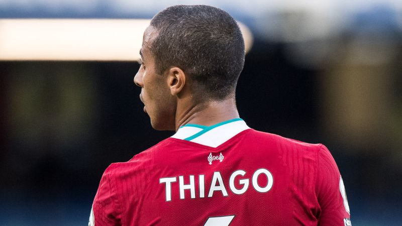 Thiago gets first Liverpool start for Merseyside derby