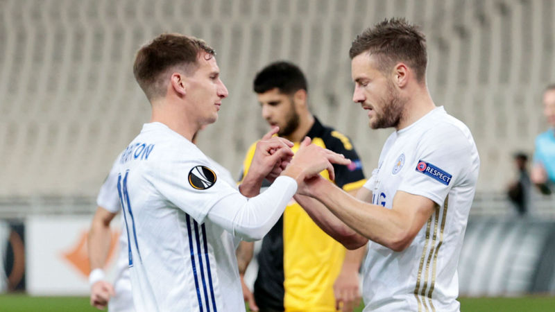 AEK Athens 1-2 Leicester City: In-form Vardy strikes in Europa League victory