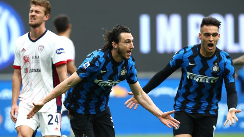 Inter 1-0 Cagliari: Darmian strikes late as Nerazzurri continue Serie A winning streak