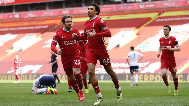 Liverpool 2-1 Aston Villa: Alexander-Arnold strikes late as Reds finally win at Anfield again