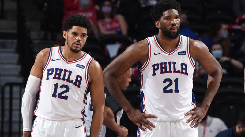 Harris and 76ers not celebrating playoff spot as Embiid focuses on NBA title