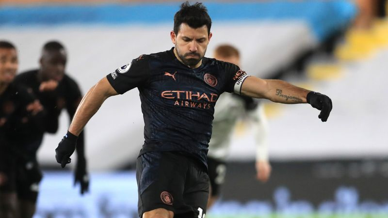 Aguero starts against Leicester after confirming Man City exit