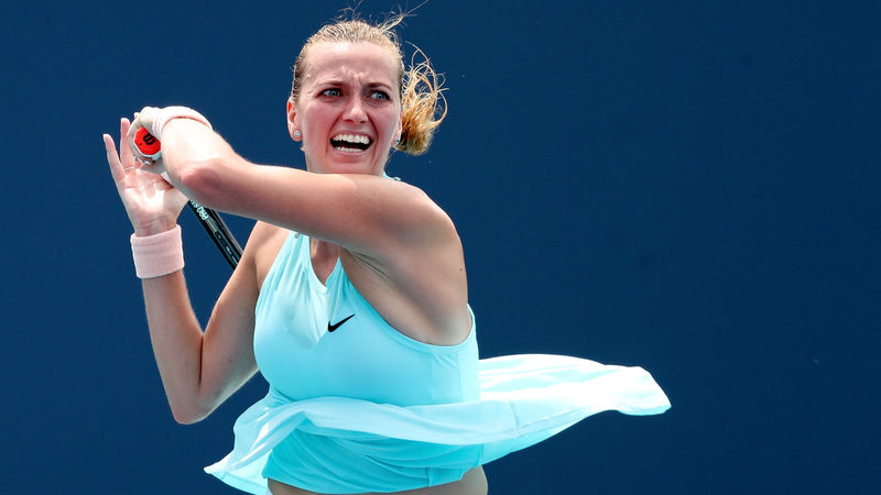 Kvitova and Muguruza exit Volvo Car Open, Barty wins hard-fought match over Rogers