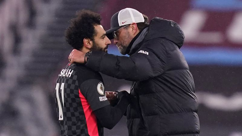 Seven shots, two goals and a Liverpool legend emulated - Salah responds to extra responsibility in vital win