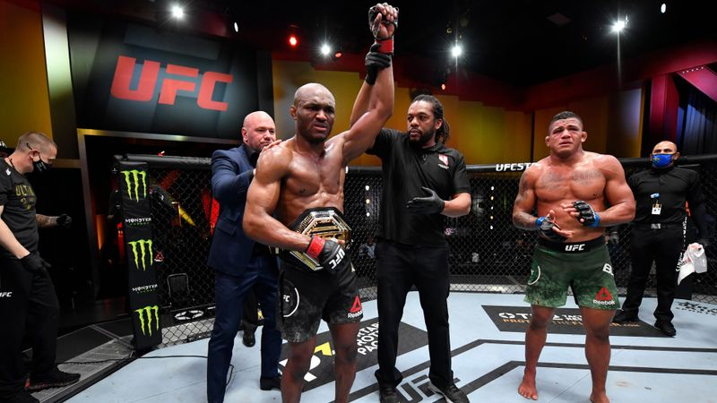 Usman makes history after retaining UFC title with brutal TKO against Burns