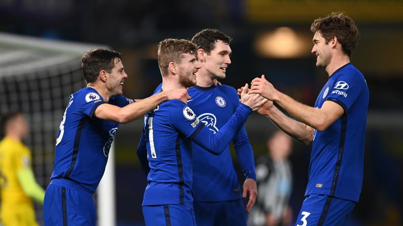 Chelsea 2-0 Newcastle United: Werner ends goal drought as Blues breeze into top four