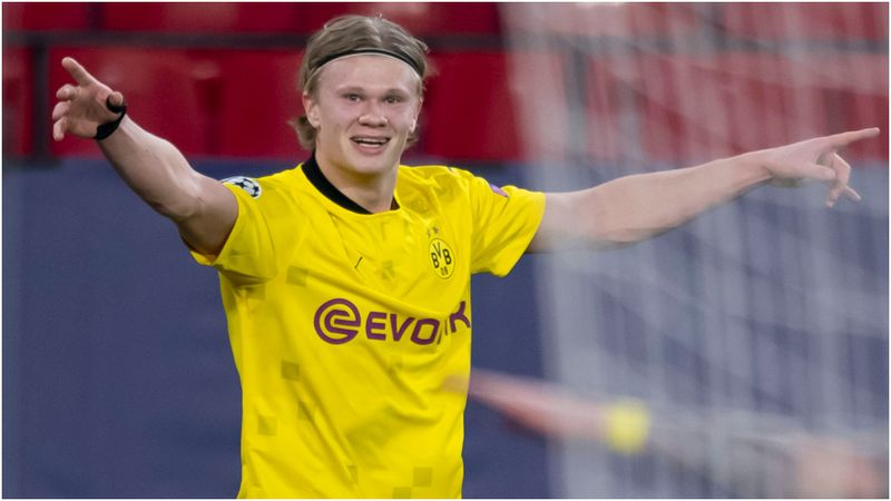Haaland at the double for Dortmund again to make Champions League history