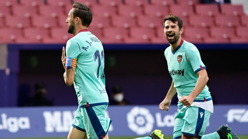 Atletico Madrid 0-2 Levante: Leaders' long unbeaten home run ended