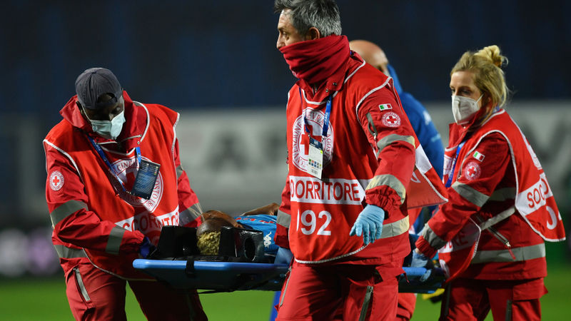 Napoli star Osimhen undergoes head trauma scans in hospital
