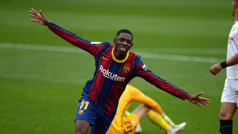 Sevilla 0-2 Barcelona: Dembele and Messi settle league encounter before Copa semi
