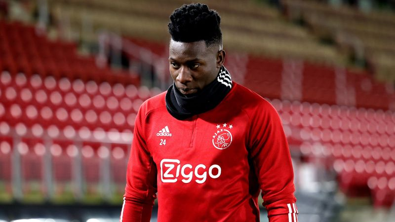 Ajax goalkeeper Onana given 12-month doping ban