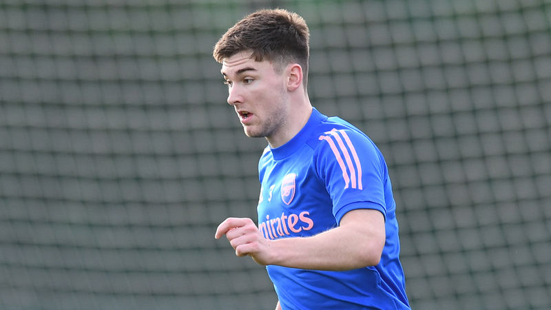 Arsenal pair Tierney and Martinelli back in training ahead of Newcastle match