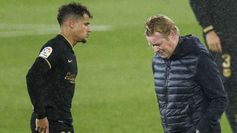 Koeman forced to do some forward thinking as 'important' Coutinho faces three months out