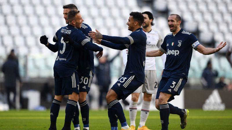 Juventus 2-0 Bologna: Arthur opens his account as champions go fourth