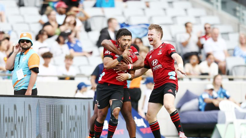 Blues 27-43 Crusaders: Mo'unga shines as leaders stretch advantage