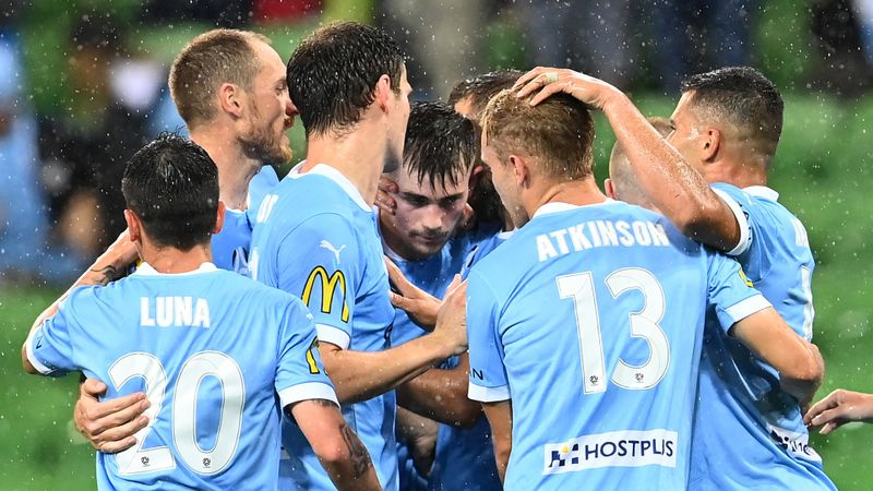Melbourne City 2-0 Central Coast Mariners: Maclaren and Atkinson make it five in a row