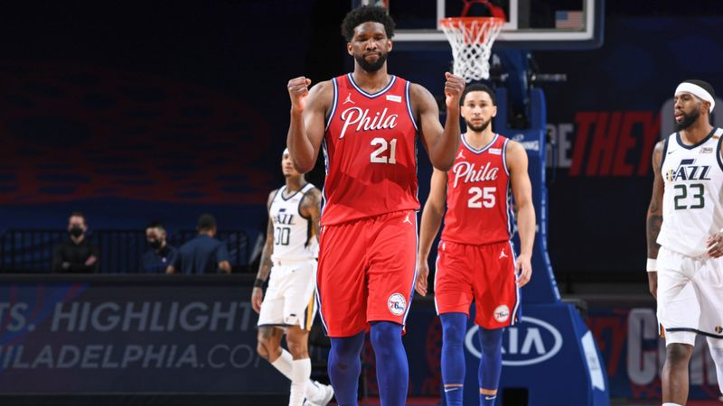Embiid lifts 76ers over Jazz in thriller and Harden enjoys winning return to Houston as LeBron-less Lakers lose