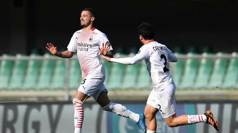 Hellas Verona 0-2 Milan: Krunic and Dalot secure Rossoneri win