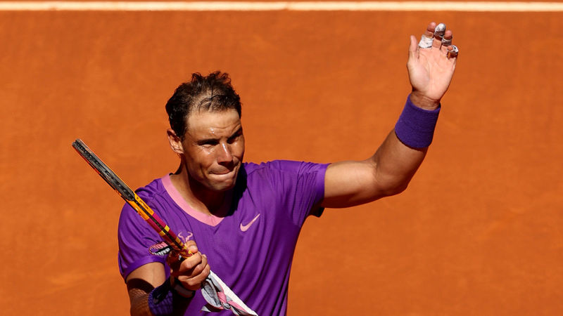 Nadal overcomes 'tough' Popyrin test as Medvedev and Tsitsipas crash out in Madrid
